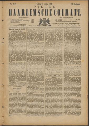 Nieuwe Haarlemsche Courant 1893-10-20