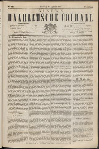 Nieuwe Haarlemsche Courant 1882-08-31