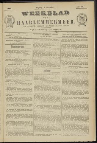 Weekblad van Haarlemmermeer 1884-12-05