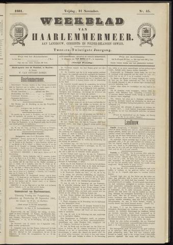 Weekblad van Haarlemmermeer 1881-11-11