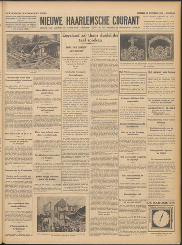 Nieuwe Haarlemsche Courant 1938-09-10