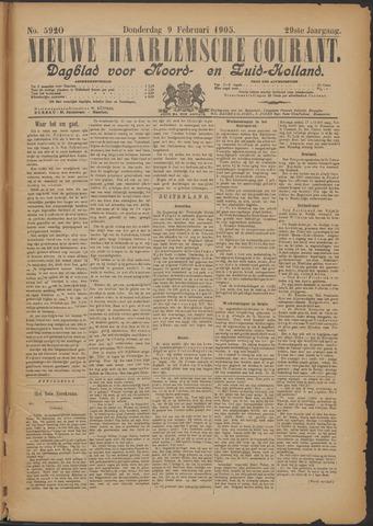 Nieuwe Haarlemsche Courant 1905-02-09