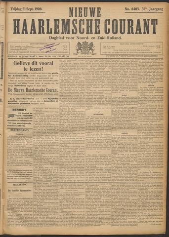 Nieuwe Haarlemsche Courant 1906-09-21