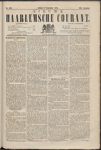 Nieuwe Haarlemsche Courant 1885-09-27