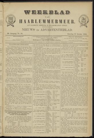 Weekblad van Haarlemmermeer 1885-10-31