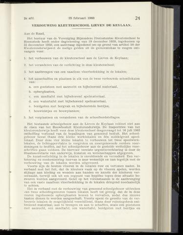 Raadsnotulen Heemstede 1960-02-25