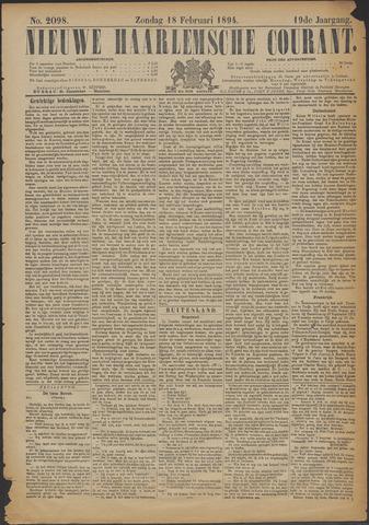 Nieuwe Haarlemsche Courant 1894-02-18