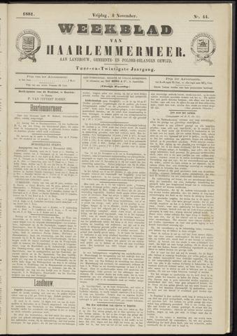 Weekblad van Haarlemmermeer 1881-11-04