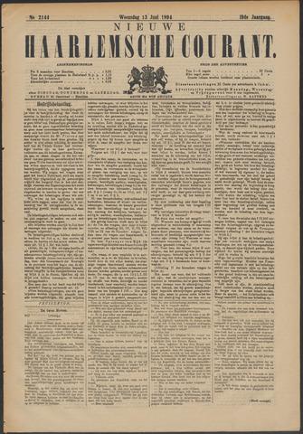 Nieuwe Haarlemsche Courant 1894-06-13