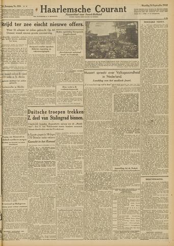 Haarlemsche Courant 1942-09-14