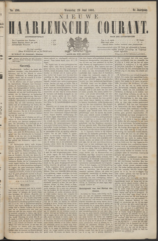 Nieuwe Haarlemsche Courant 1881-06-29