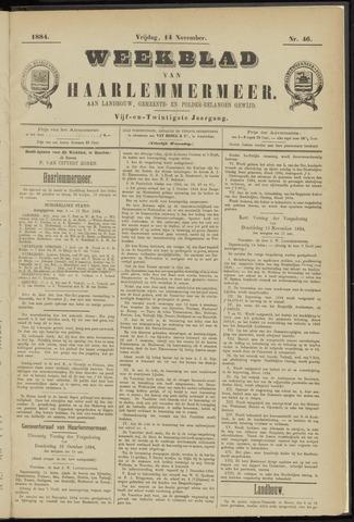 Weekblad van Haarlemmermeer 1884-11-14