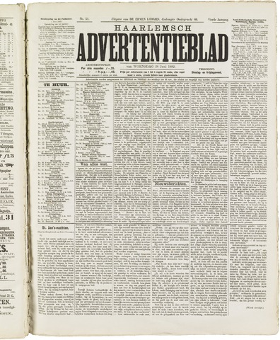 Haarlemsch Advertentieblad 1882-06-28
