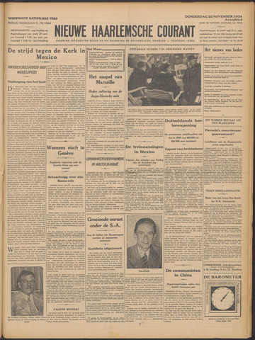 Nieuwe Haarlemsche Courant 1934-11-22