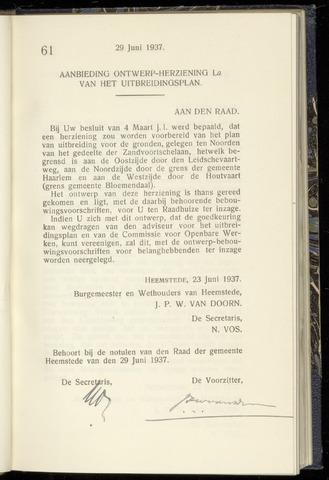 Raadsnotulen Heemstede 1937-06-29