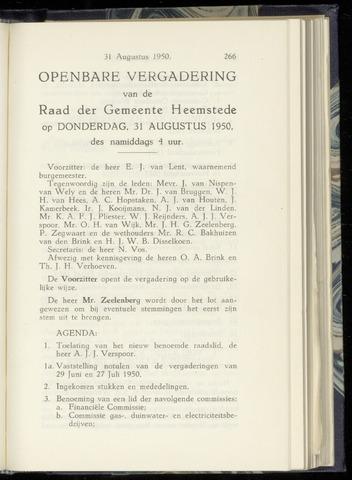 Raadsnotulen Heemstede 1950-08-31
