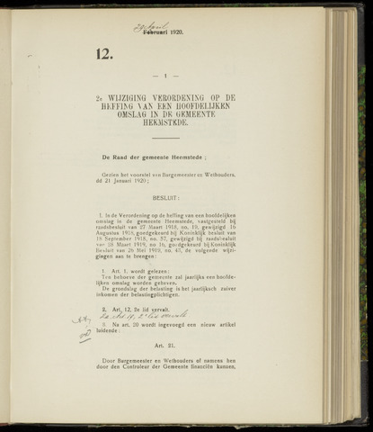 Raadsnotulen Heemstede 1920-04-29