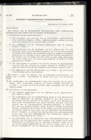 Raadsnotulen Heemstede 1972-02-24