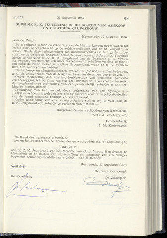 Raadsnotulen Heemstede 1967-08-31