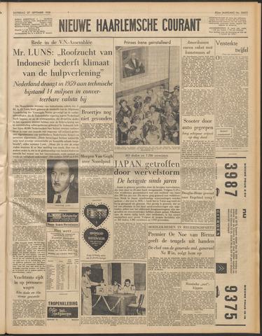 Nieuwe Haarlemsche Courant 1958-09-27