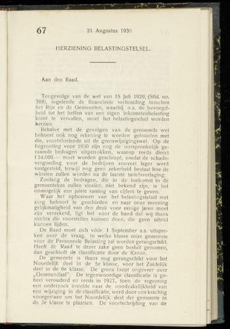 Raadsnotulen Heemstede 1930-08-21