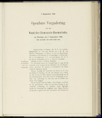 Raadsnotulen Heemstede 1909-09-07