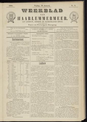 Weekblad van Haarlemmermeer 1881-01-21