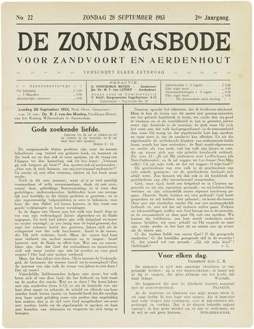 De Zondagsbode voor Zandvoort en Aerdenhout 1913-09-28