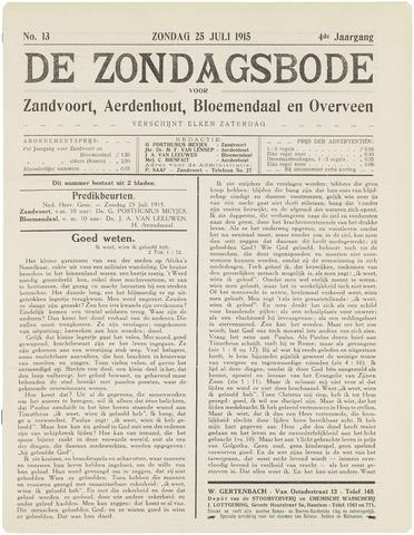 De Zondagsbode voor Zandvoort en Aerdenhout 1915-07-25