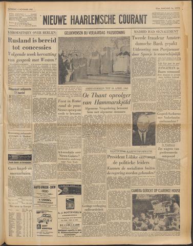 Nieuwe Haarlemsche Courant 1961-11-04