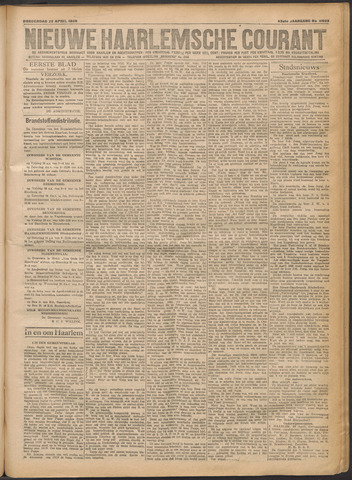 Nieuwe Haarlemsche Courant 1920-04-22