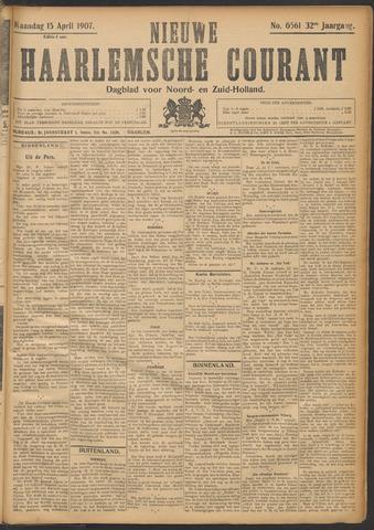 Nieuwe Haarlemsche Courant 1907-04-15