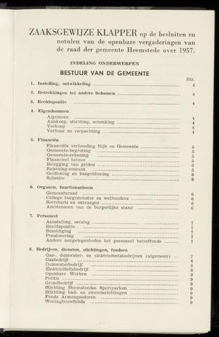 Raadsnotulen Heemstede 1957-01-01