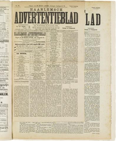 Haarlemsch Advertentieblad 1882-11-22