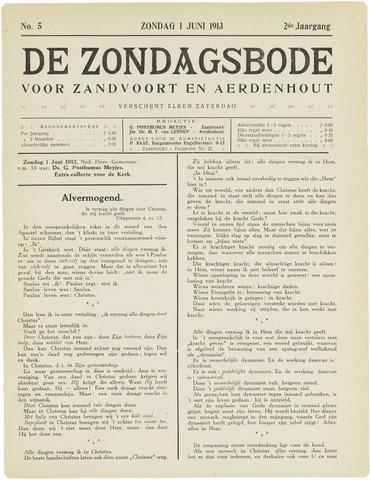 De Zondagsbode voor Zandvoort en Aerdenhout 1913-06-01