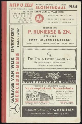 Adresboeken Bloemendaal 1964