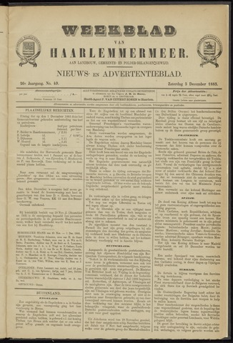 Weekblad van Haarlemmermeer 1885-12-05