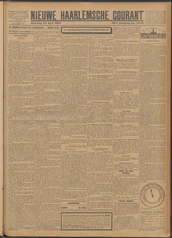 Nieuwe Haarlemsche Courant 1923-04-23