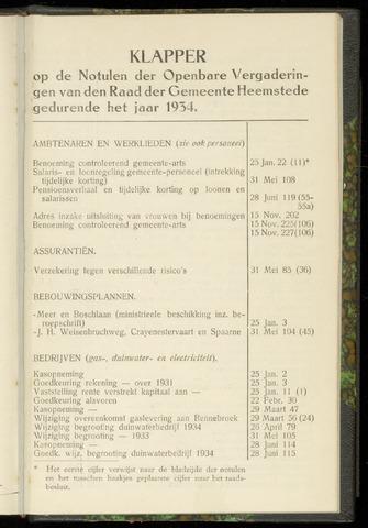Raadsnotulen Heemstede 1934