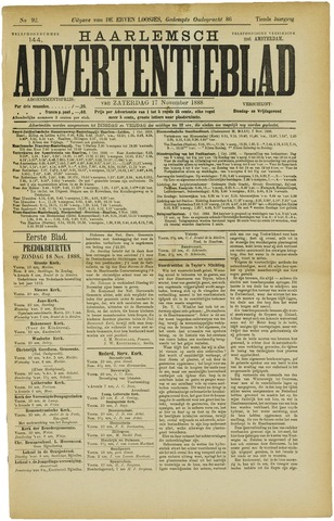 Haarlemsch Advertentieblad 1888-11-17