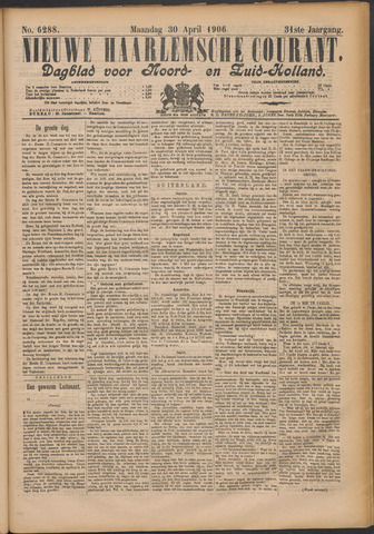 Nieuwe Haarlemsche Courant 1906-04-30