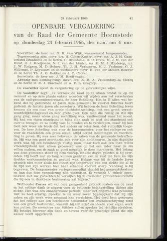 Raadsnotulen Heemstede 1966-02-24