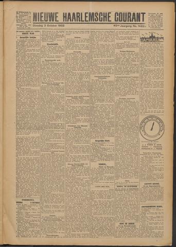 Nieuwe Haarlemsche Courant 1922-10-03