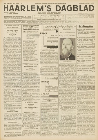 Haarlem's Dagblad 1935-04-15