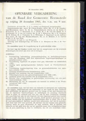 Raadsnotulen Heemstede 1963-12-20