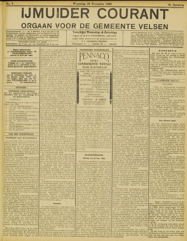 IJmuider Courant 1922-11-29
