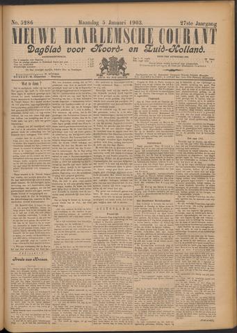 Nieuwe Haarlemsche Courant 1903-01-05