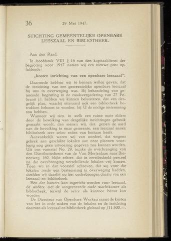 Raadsnotulen Heemstede 1947-05-29