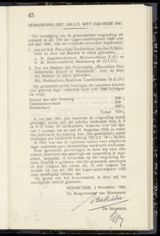 Raadsnotulen Heemstede 1942-11-02