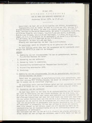 Raadsnotulen Heemstede 1978-05-18